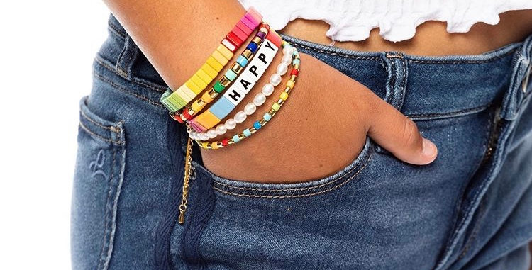 Happy Go Lucky Tile Bracelet