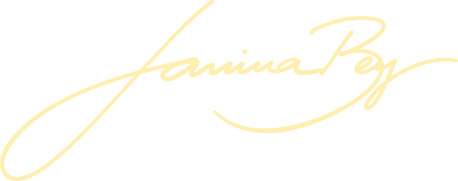 Janina Bey Logo Handwriting #FFEFB1.png