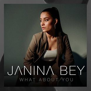 """Janina Bey What About You"""" official single cover"""