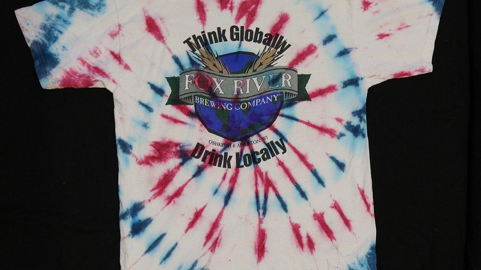 Think Globally Drink Locally Vintage Tye Dye