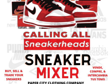 Calling All Sneakerheads: Sneaker Mixer Saturday August 7th