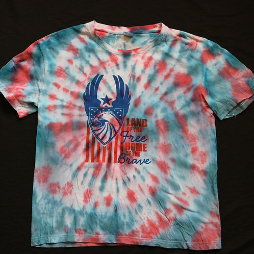 Land Of The Free Home Of The Brave Vintage Tye Dye