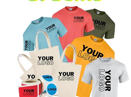 your logo, promo, swag, company logo, festival tee, print custom