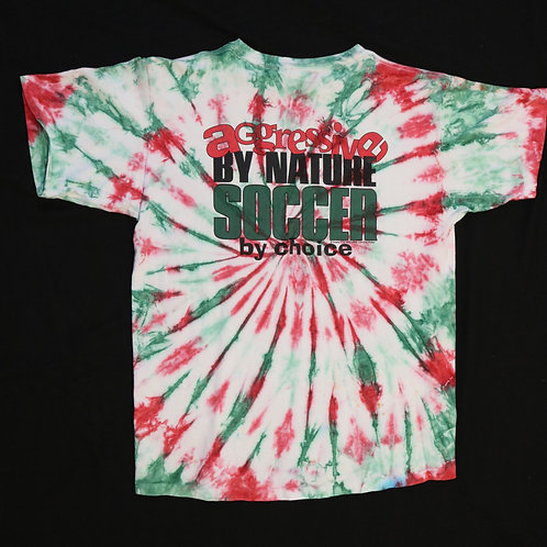 Aggresive By Nature Soccer By Choice Vintage Tye Dye