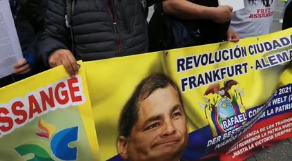 Demonstration für Julian Assange