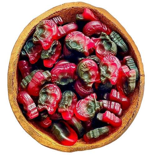 Mini Raspberry Liquorice Skulls