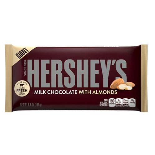 Hershey's Giant Milk Chocolate with Almonds- [193g]