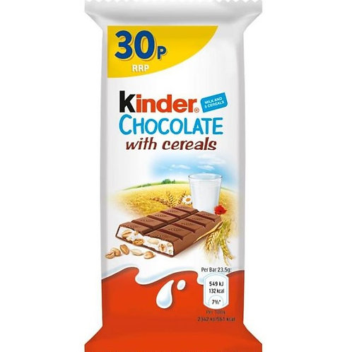 Kinder Chocolate With Cereal Bar