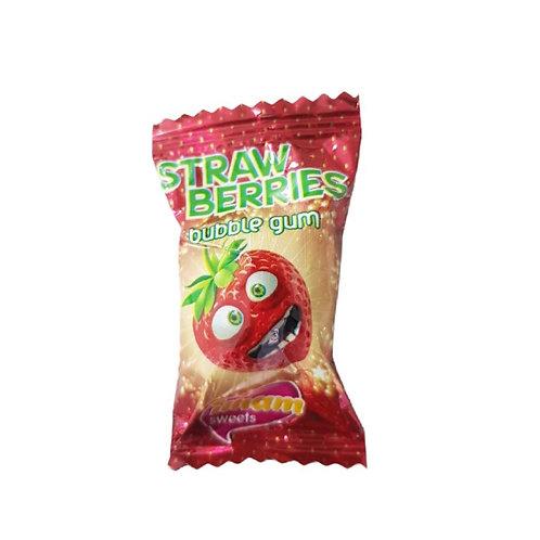 Strawberries Bubble Gum - 10 pieces