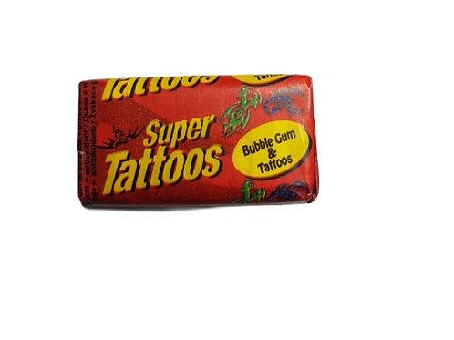 Super Tattoos Bubble Gum - [10 pieces]