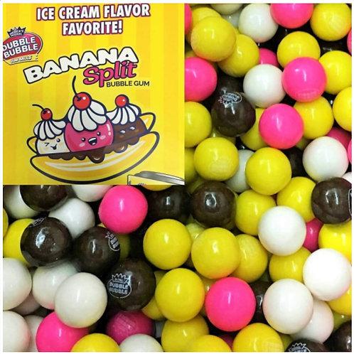 Dubble Bubble Banana Split Gumballs - [1 gumball]