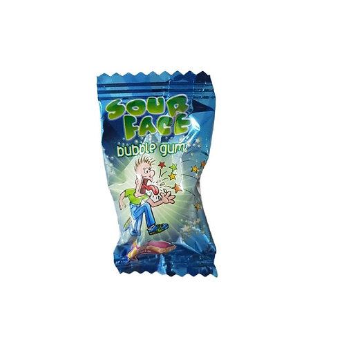 Sour Face Sour Bubble Gum - 10 pieces
