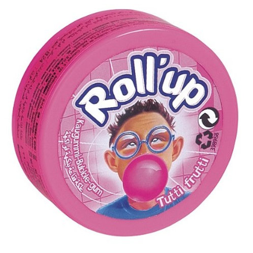 Roll Up Tutti Frutti Bubble Gum