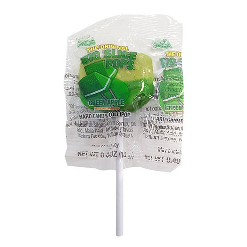 Alberts Big Slice Pops Green Apple