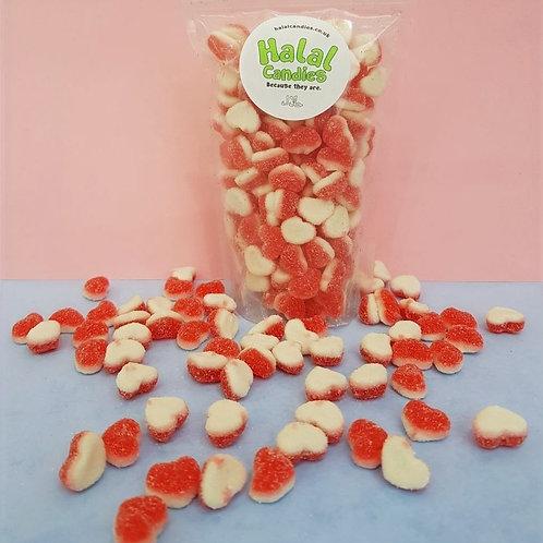 Sugared Strawberry Hearts