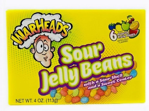 Warheads Sour Jelly Beans - [113g]