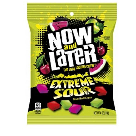 Now And Later Extreme Sours - 113g