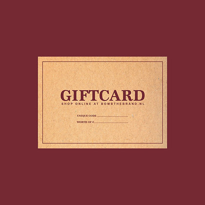 Bomb giftcard €100,-