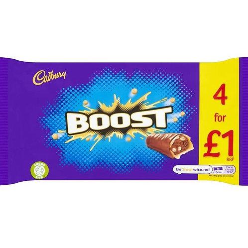Cadbury Boost Chocolate Bars 4 Pack - £1