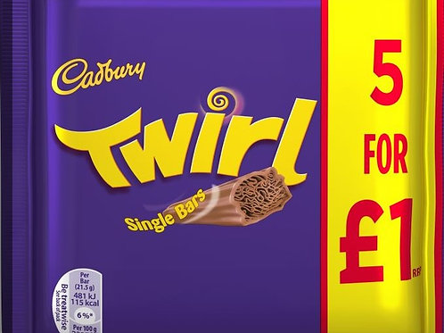 Cadbury Twirl Single Bars 5 Pack - £1