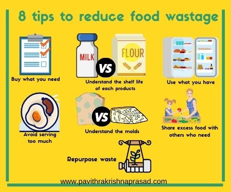 8 tips to reduce food wastage