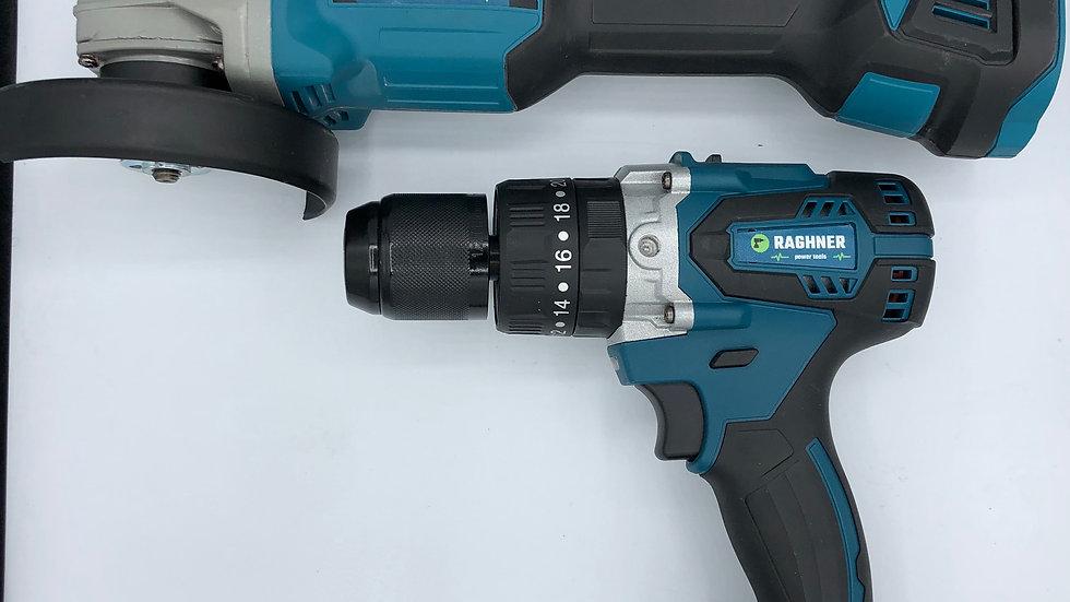 kit trapano/smerigliatrice angolare brushless 21v