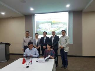 중국 연태 유학인원 창업단지와 MOU 체결