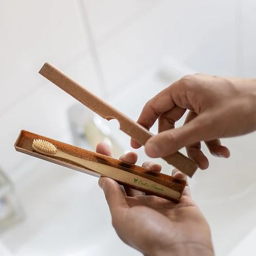 Boîte à brosse à dent en bois liquide