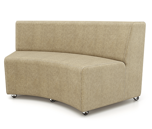 Curved Armless Sofa - In
