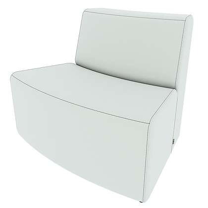XL Curved Loveseat - Out