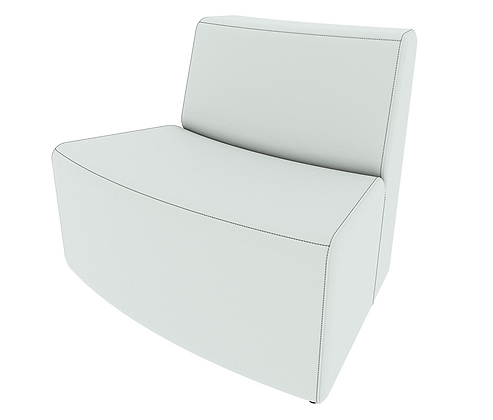 XL Curved Armless Loveseat - Out