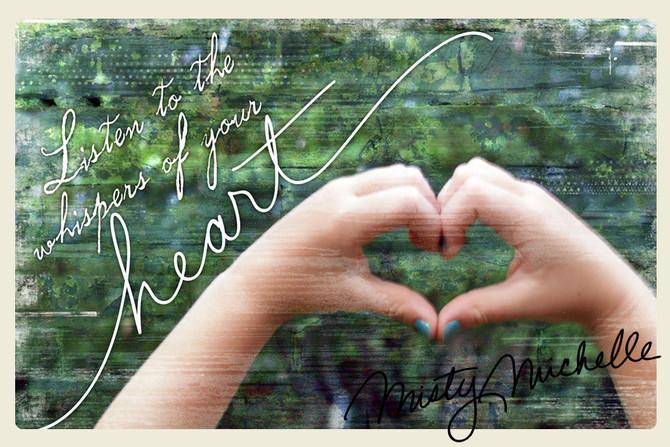 blue nail polish and the heart