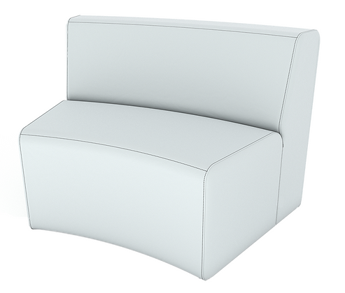 XL Curved Armless Loveseat -In