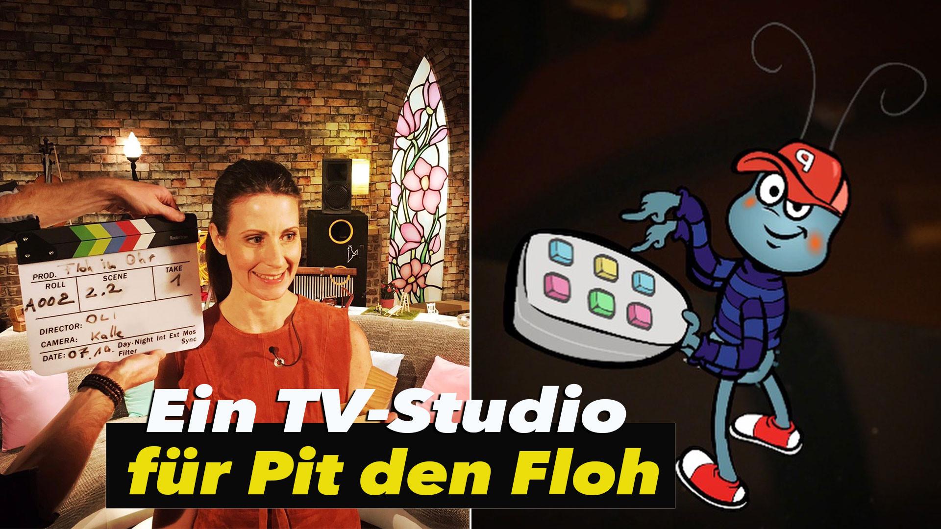 """Ein TV-Studio für Pit den Floh! Kinder Musik Sendung """"Floh im Ohr"""" *Special Intro*"""
