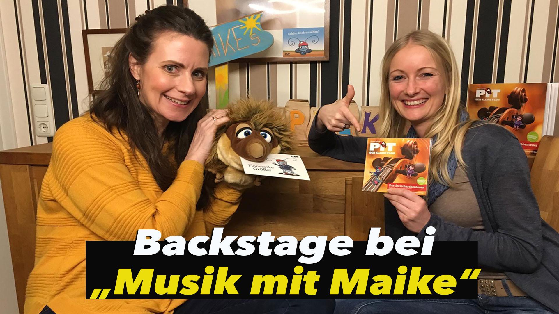 """*Floh im Ohr TV* zu Besuch bei """"Musik mit Maike"""" - Backstage"""