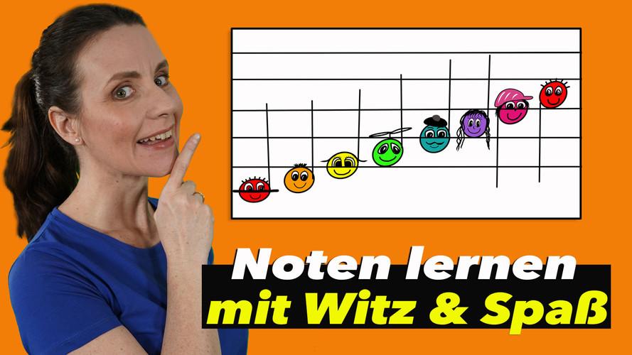 Spielend Noten lernen - Für Kinder leicht erklärt - Musik für Kids - Online Musikunterricht