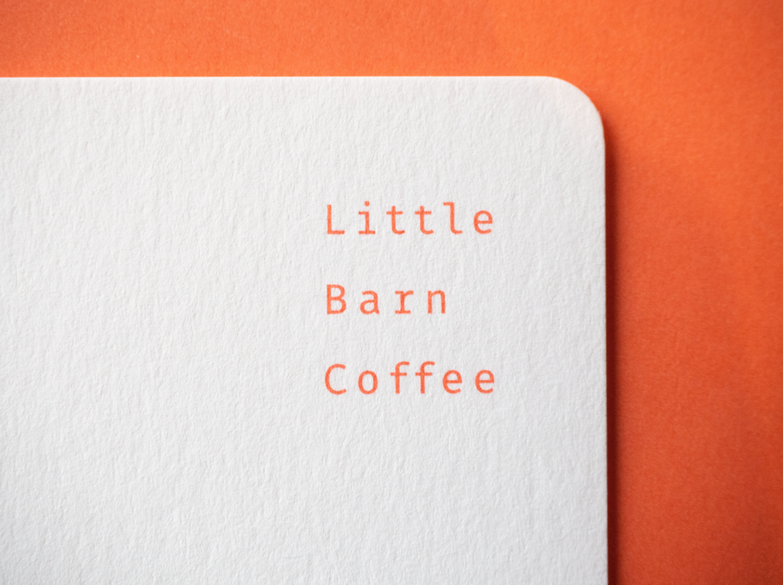Visual design for a coffee shop