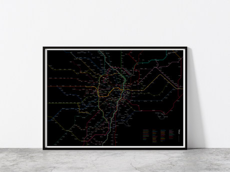 Tokyo Rail Map poster