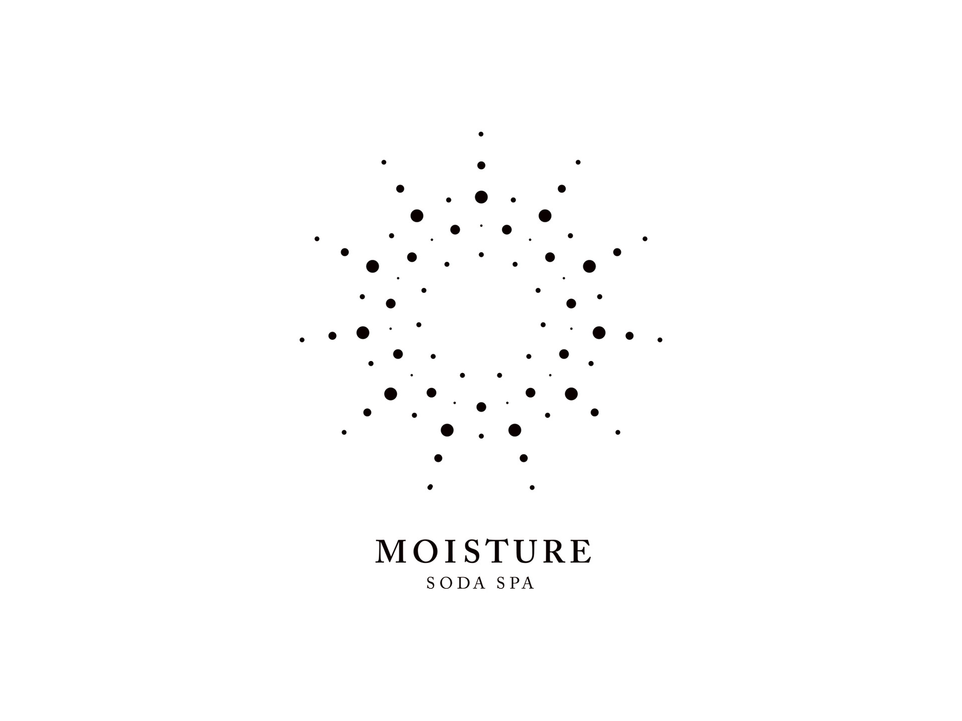 Logo Design for MOISTURE Soda Spa