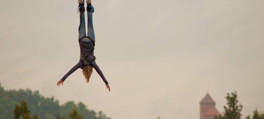 Bungee jumping in Sigulda