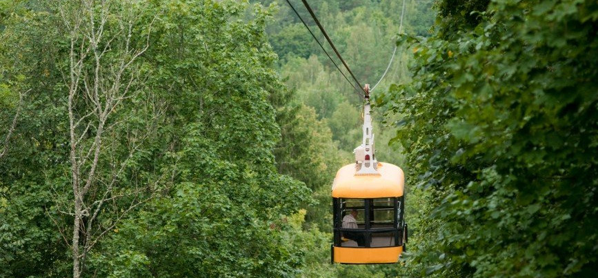 Cable Car over Gauja River