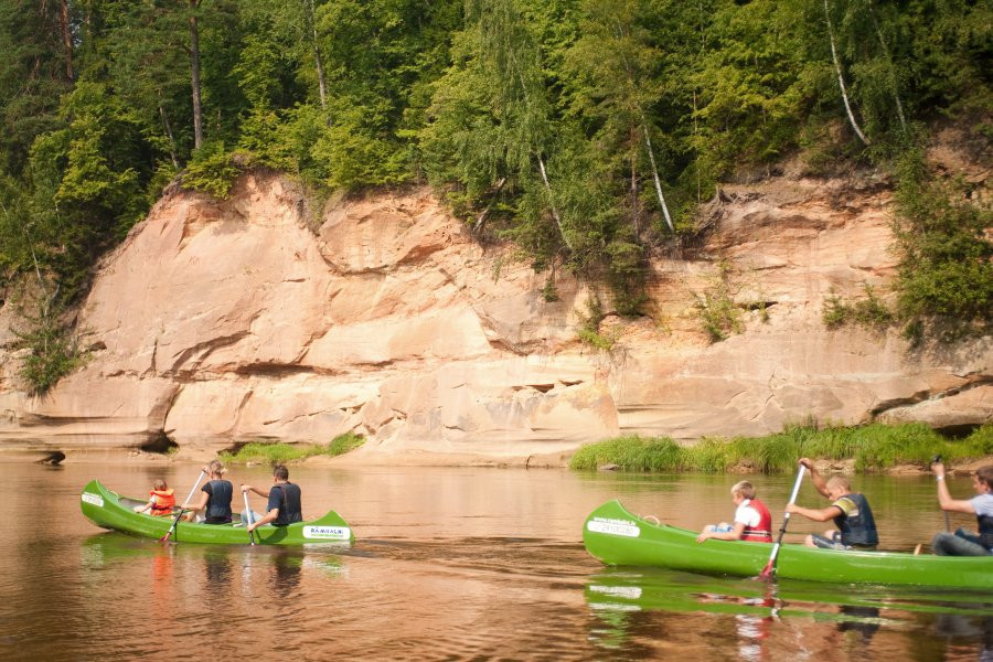 Canoeing in the Gauja National park