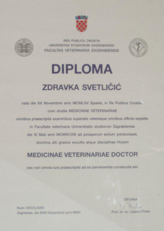 Diploma_veterina_zdravka_svetlicic