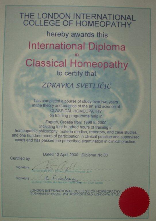 diploma_homeopat_zdravka_svetlicic