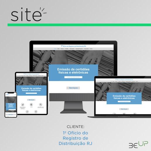 Criação de Site - 1º Ofício do Registro de Distribuição RJ
