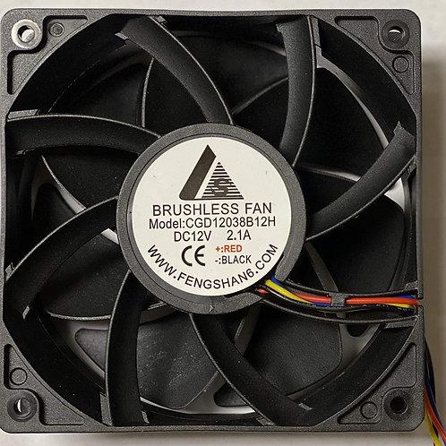 4Pin 120X120X38mm Cooling Fan, DC12V, 2.1A, 209CFM, 5500 RPM, 65.2 dBA