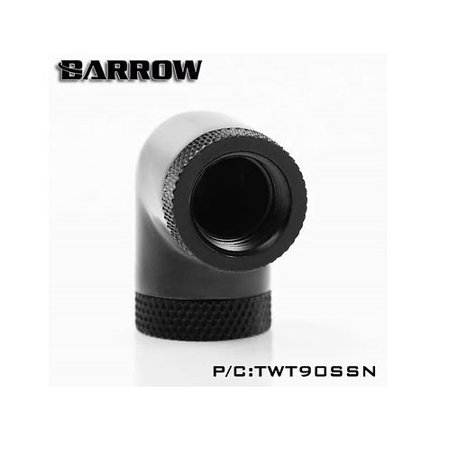 "Barrow G1/4"" 90 Degree Female to Female Dual Rotary Angled Adaptor Fitting-4Pack"