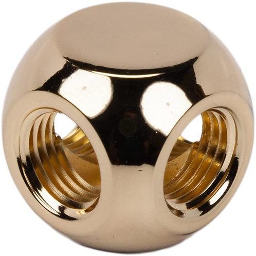 "Barrow G1/4"" 4-Way Ball Fitting, Gold"