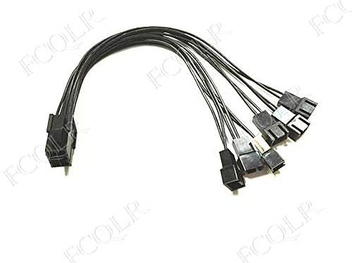 FCQLR for ATX Power Graphics Card 6Pin Female to 6 Fans Small 3Pin 3-pin Cable