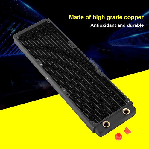 FREEZEMOD  Copper Radiator, Heat Sink (Supports 3 x 120mm Fans)